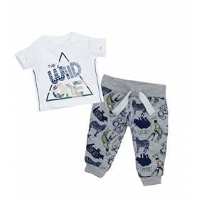 Set tricou si pantalon bebelusi - model safari