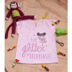 Tricou pentru fetite - model Glitter