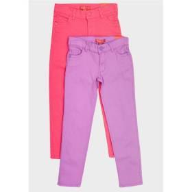 Jeansi colorati fetite - talie ajustabila