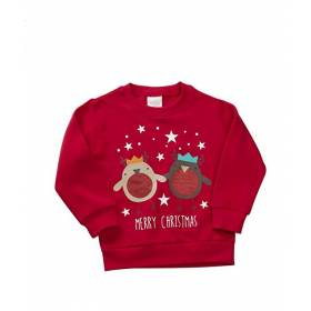 Bluza rosie Craciun copii – Model Merry Christmas