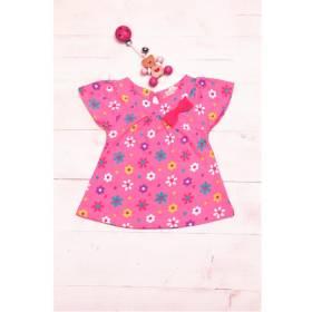 Bluza roz bebeluse - model floricele