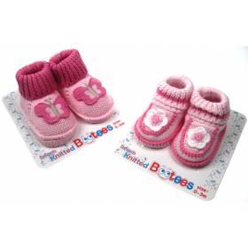 Botosei roz bebeluse - model fluture /floricica