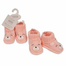 Botosei tricotati bebeluse - model ursulet