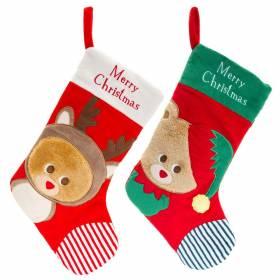 Ciorapei pentru Craciun 40 cm - model Ren sau Ursulet