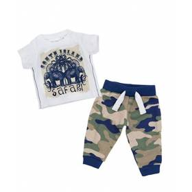 Set tricou si pantalon bebelusi - model army
