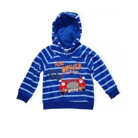 Hanorac baietei - albastru model masinuta