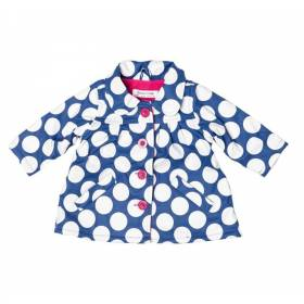Jacheta de ploaie bebeluse - model cu buline