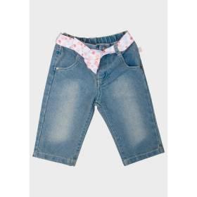 Jeansi cu panglica pentru fetite