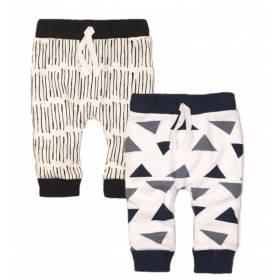 Pantaloni pentru bebelusi - model geometric