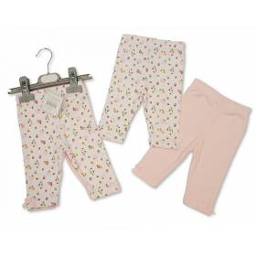 Set pantaloni bebeluse - model floricele