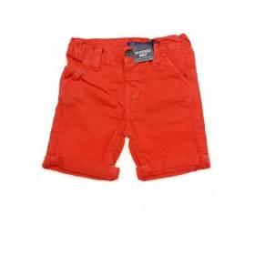 Pantaloni scurti portocalii baietei -model cu talie reglabila
