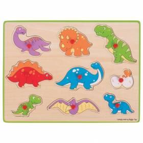 Puzzle lemn dinozauri