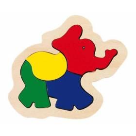 Puzzle lemn model elefantel