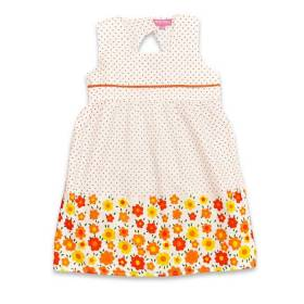 Rochita bebeluse - model flori portocalii