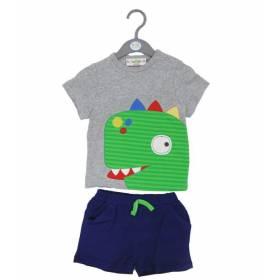 Set bluza si pantalon bebelusi - model dinozaur