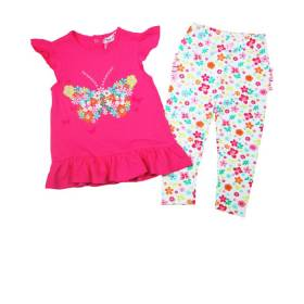 Set bluza si pantalon bebeluse - model fluturas
