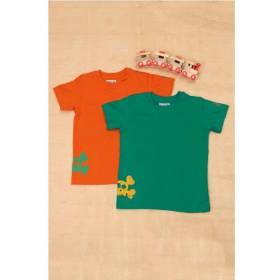 Set tricouri baietei- portocaliu si verde