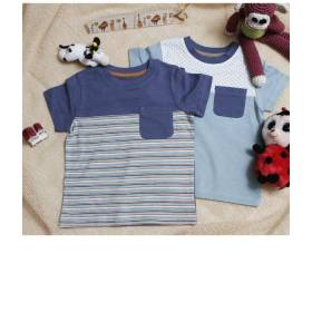 Set tricouri albastre pentru bebelusi