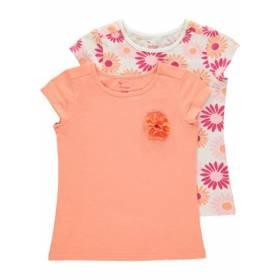 Set bluze portocalii cu maneca scurta pentru fetite