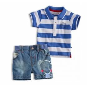 Set bebelusi - tricou polo si pantaloni scurti