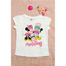 Tricou alb Minnie pentru fetite