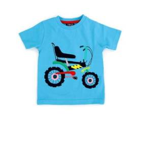 Tricou albastru bebelusi - model bicicleta