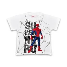 Tricou alb Spiderman baietei