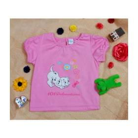 Tricou roz bebeluse - model dalmatieni