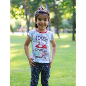 Tricou Hello Kitty fetite - model in dungi