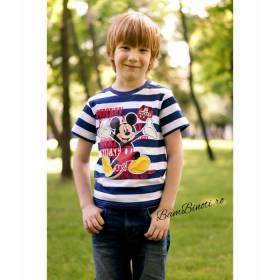 Tricou Mickey Mouse baietei - model in dungi