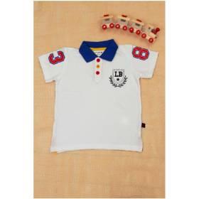 Tricou alb Polo pentru baietei