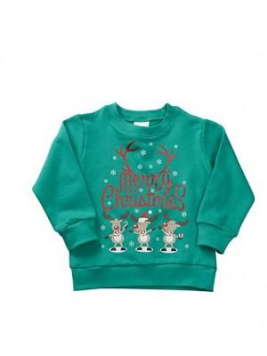 Bluza verde Craciun copii – Merry Christmas