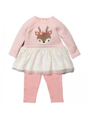 Bluza si panaloni model Bambi pentru bebeluse
