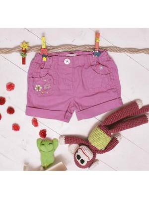 Pantaloni scurti roz bebeluse 6-12-18-23 luni