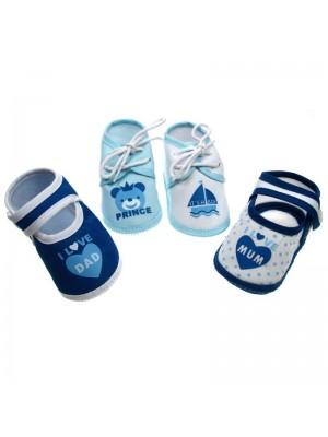 Pantofiori cu mesaj pentru bebelusi