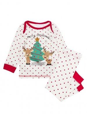"""Compleu Craciun bebelusi – bluza si pantalon """"Merry Christmas"""""""