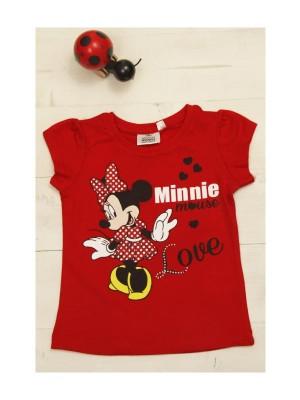 Tricou rosu fetite - model Minnie