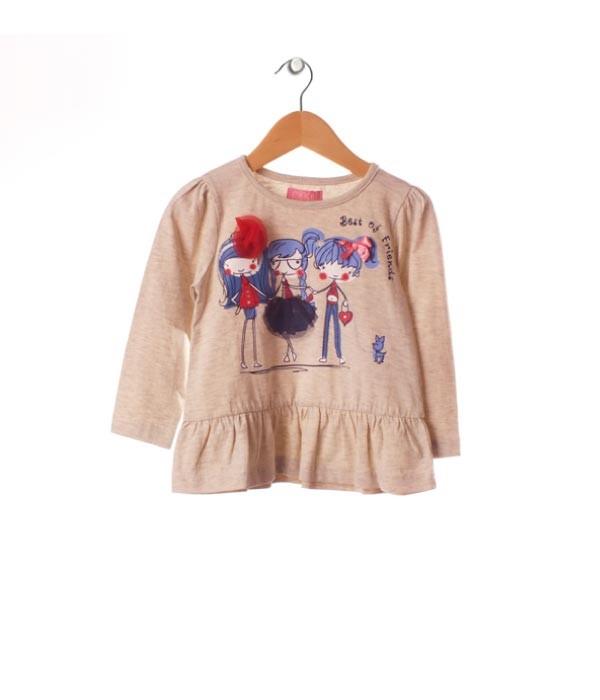 bluza bej cu model pentru fetite 18 luni - 4 ani, marca Minoti