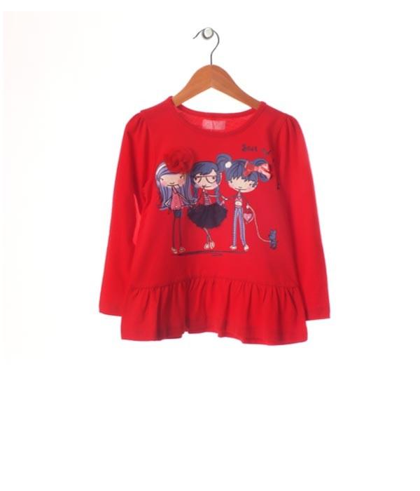 bluza rosie fetite 2-3 ani, marca Minoti