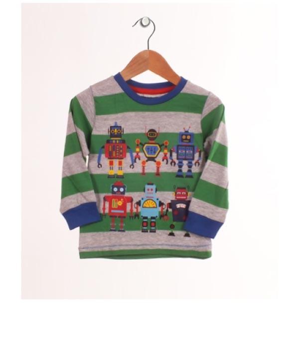bluza model roboti baietei 2 -4 ani, marca Minoti