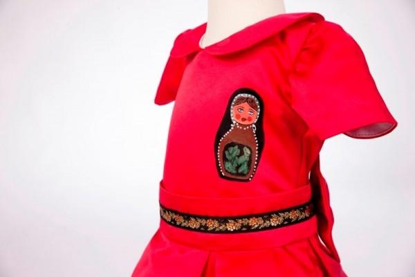 detaliu rochie handmade 2-5 ani