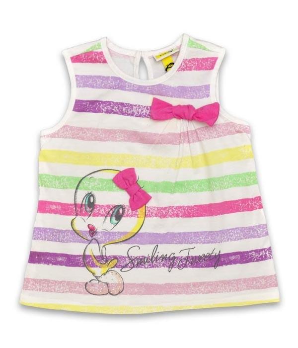 detaliu bluza Tweety pentru bebeluse de 9luni - 18luni