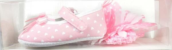 papucei roz 0 - 6 luni, 6 - 12 luni