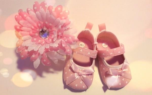 papucei fetite 0 -6 luni, 6 - 12 luni