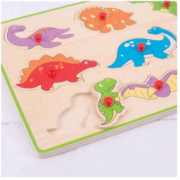 puzzle incastru dinozauri