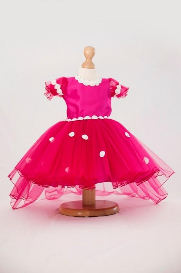 rochita handmade roz fetite 4 - 5 ani