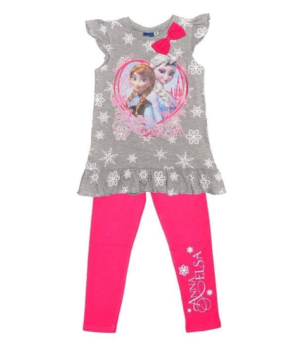 set bluza si pantalon Frozen fetite 4-6-8 ani