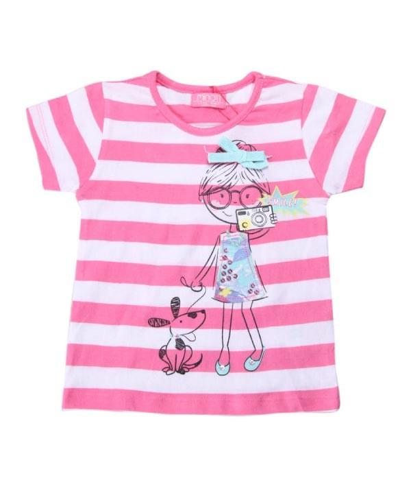 tricou roz bebeluse 12 -18 luni, marca Minoti